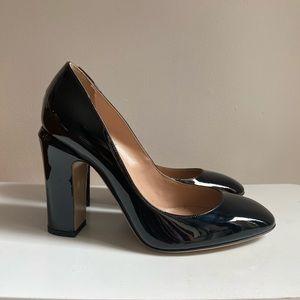 VALENTINO New Black patent Tango Heels 37 / US 7